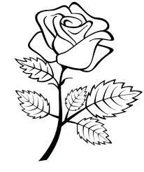 Rose Coloring Pages Flowers Roses Coloring Pages For Preschool
