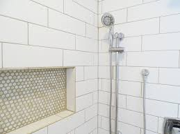 three subway tile showers