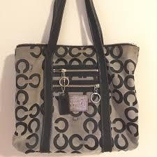 Coach Poppy OP art glam shoulder bag large