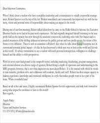 Work Recommendation Letter 7 Graduate School Recommendation Letters Free Sample Example