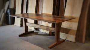 Reclaimed Oak Dining Table Buy A Hand Made Reclaimed White Oak Trestle Dining Table Made To