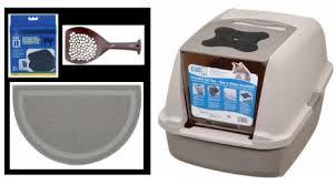 hagen catit hooded cat litter box. Catit Jumbo Hooded Cat Litter Pan Warm Gray Amazoncom Hagen Box