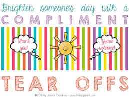 Tare Offs Tear Off Compliments Worksheets Teaching Resources Tpt