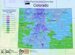Plant Zone Chart Colorado Plant Hardiness Zone Map Mapsof Net