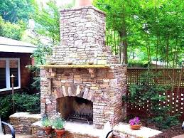 how to build a stone outdoor fireplace 4 plans much does it cost an backyard ki