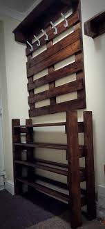 Coat And Shoe Rack Hallway A Hallway Pallet Coat Rack And Shoe Rack That Is Both Good Looking 45