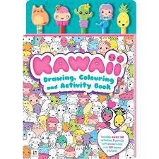 kawaii drawing colouring and activity book