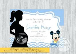 Mickey Mouse Baby Shower Invitations Printable Also Image 0 For