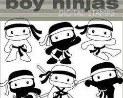 cute ninja clipart. Fine Ninja Off Ninja Digital Stamp Set Personal And Commercial Cute Boy Ninjas Bduj6y  Clipart Throughout N