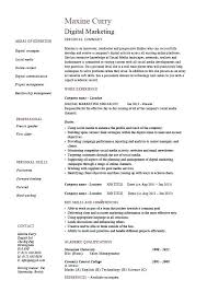 Social Media Resume Example Social Media Marketing Manager Resume Example Marketer Letsdeliver Co