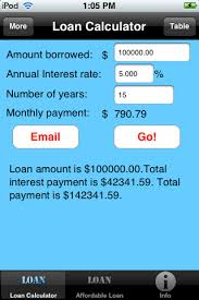 pay back loans calculator simple loan calculator app for iphone