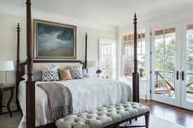 Inspiration for a victorian dark wood floor bedroom remodel in Providence  with beige walls