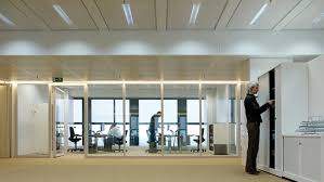 light office. office area lit with philips dynamic lighting light