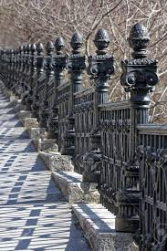Medieval Ornate Wrought iron Fence Stock Photo Picture And Royalty
