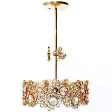 a gorgeous and high quality gold plated brass chandelier or pendant light by palwa