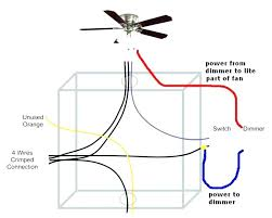 ceiling fan wire color connections blue a with light