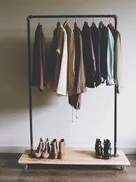 ... Wardrobe Racks, Cheap Garment Rack Clothing Rack Target Simple Rustic  Metal Pipe Clothes Rack With ...