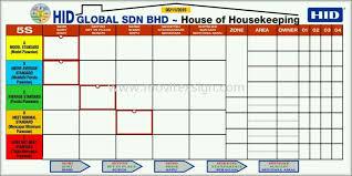 Housekeeping Chart Board Design Design Design Supplier