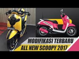 modifikasi honda scoopy terbaru 2017