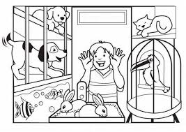 Small Picture Pet Shop Coloring Page For Kids Animal Coloring Pages Printables