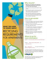 Apartment Flyer Ideas English And Spanish Language Commercial Recycling Flyer