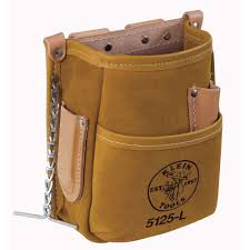 klein tools 5 pocket tool pouch leather