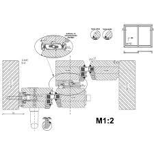 sliding door track system b q