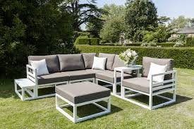 white outdoor furniture. White Alu Frame With Taupe All Weather Cushions Outdoor Furniture O