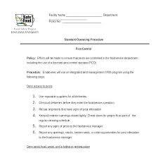standard operating procedures template word standard operating procedures template word free procedure
