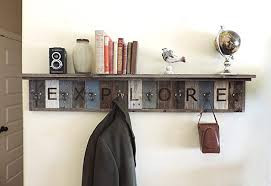 Barn Wood Coat Rack Adorable Personalized Reclaimed Wood Coat Rack Barn Wood Hooks W 32 Deep Shelf