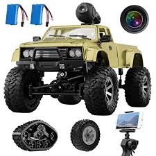 Amazon.com: Remokids RC Military Truck with Wi-Fi HD Camera, 1:16 ...