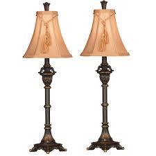 metallic bronze buffet lamp set 2 pack