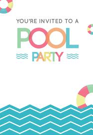 023 Pool Party Invitation Template Ideas Stunning Unicorn