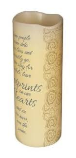 some people leave footprints on our hearts led scented candle