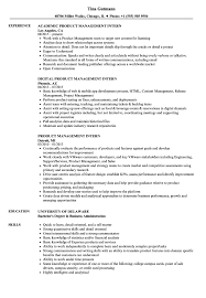 Product Management Resume Product Management Intern Resume Samples Velvet Jobs 38