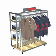 Apparel Display Stands Top Clothing Display Stands Heavy Duty Round Clothes Rail 2