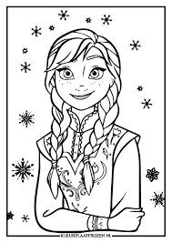 Cute And Cozy Coloring Pages For Girls Frozen Kleurplaat Van Anna