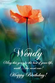 Risultati immagini per Happy Birthday Wendy greetings
