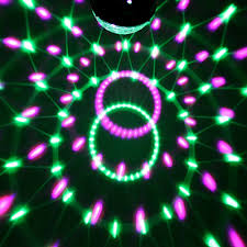 Broken Light Effect Us 13 12 25 Off Rgb Led Stage Effect Light Crystal Auto Sound Magic Ball Disco Lighting Shower Laser Projector Party Digital Dj Club Lamp In Stage