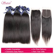 Hair Length Chart Bundles Satai Hair Brazilian Straight Human Hair Bundles With