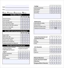 Student Report Card Template Report Card Template 28 Free Word Excel Pdf Documents