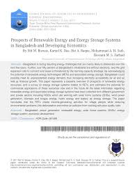 prospects of renewable energy and energy storage systems in  prospects of renewable energy and energy storage systems in and developing economics pdf available