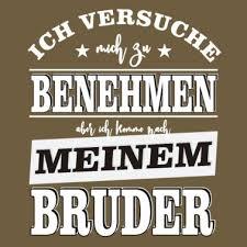 Schwester Geschwister Familie Lustig Geschenk Männer Premium T Shirt