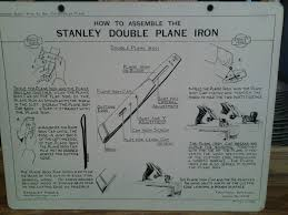 Stanley Plane Size Chart How To Assemble The Stanley Double Plane Iron Educational
