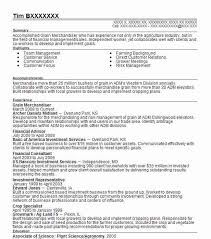 Grain Merchandiser Sample Resume Custom Grain Merchandiser Resume Example Archer Daniels Midland