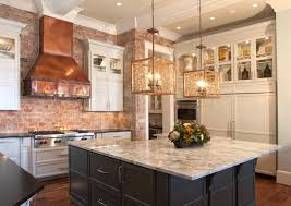 ... Transitional kitchen in white with a shiny copper backsplash [Design:  Small Interiors Design]