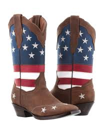 women s usa flag rodeo cowgirl boots square toe