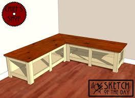 wooden corner bench plans
