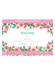 Shopping Spree Gift Certificate Template Mothers Day Gift Certificate Template Pdf Templates Jotform