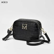 <b>AOEO crossbody bags for</b> women genuine leather 100% real Ladies ...